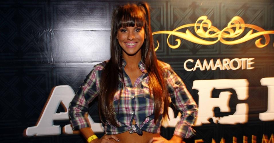 16.jul.2013 - Carol Narizinho durante evento de lançamento da 58ª Festa do Peão de Barretos no Villa Country, em São Paulo