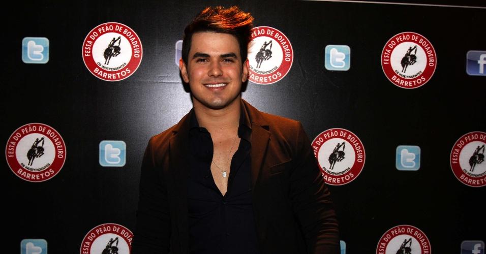16.jul.2013 - Gabriel Gava durante evento de lançamento da 58ª Festa do Peão de Barretos no Villa Country, em São Paulo
