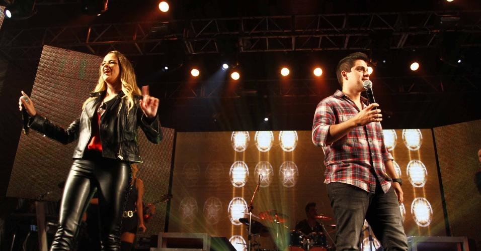 16.jul.2013 - Marília Cecília e Rodolfo durante evento de lançamento da 58ª Festa do Peão de Barretos no Villa Country, em São Paulo