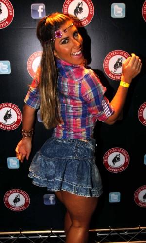 16.jul.2013 - Tati Minerato durante evento de lançamento da 58ª Festa do Peão de Barretos no Villa Country, em São Paulo