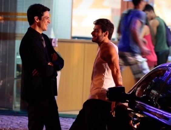 """18.jul.2013 - Lucas Malvacini grava novas cenas como o Anjinho de """"Amor à Vida"""""""