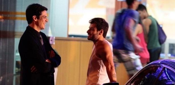 18.jul.2013 - Lucas Malvacini grava novas cenas como o Anjinho de