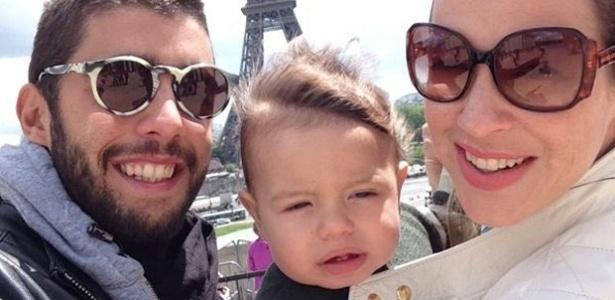 Scooby, Dom e Luana Piovani em visita a Paris