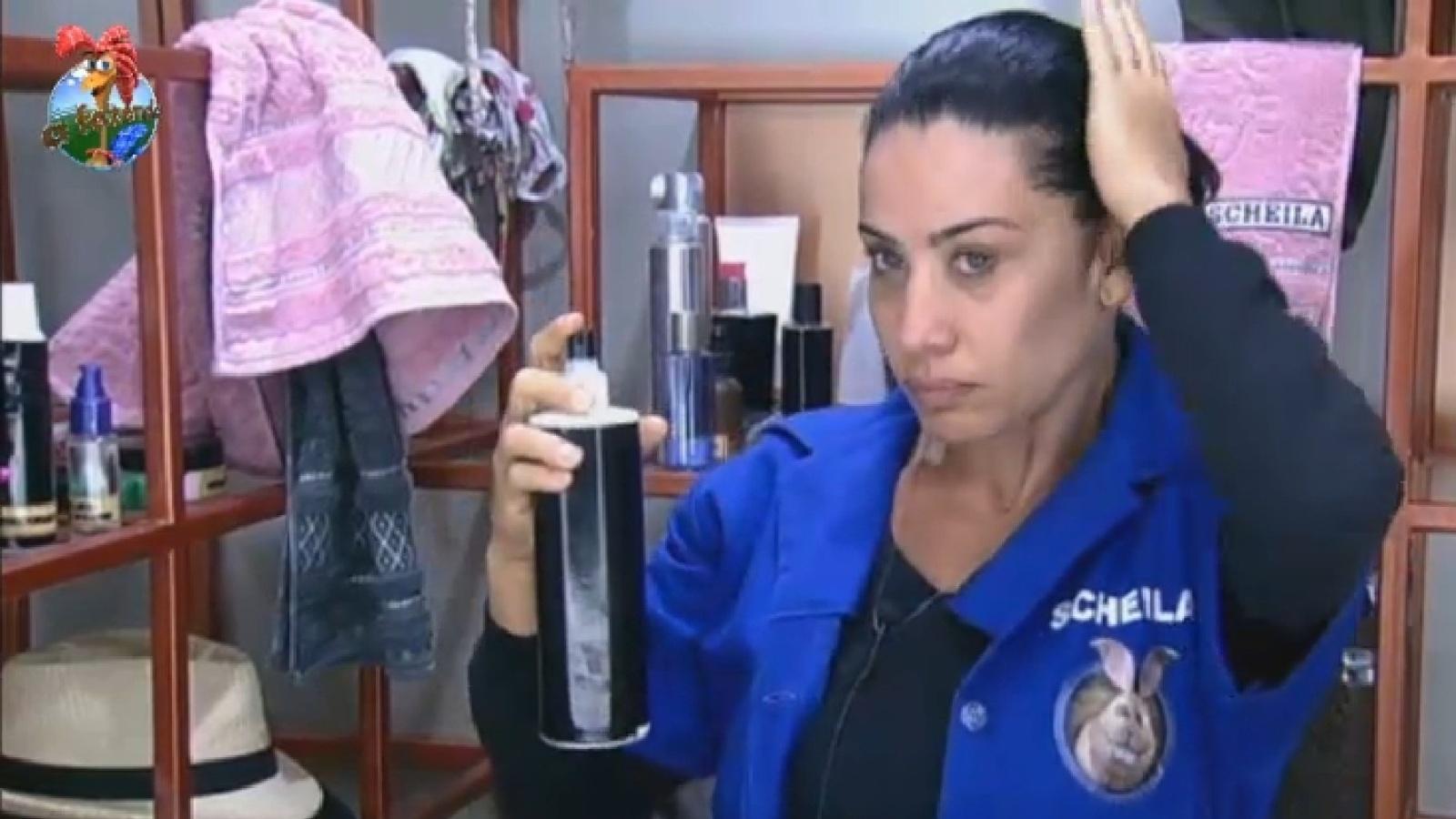 24.jul.2013 - Scheila se prepara para a prova da chave