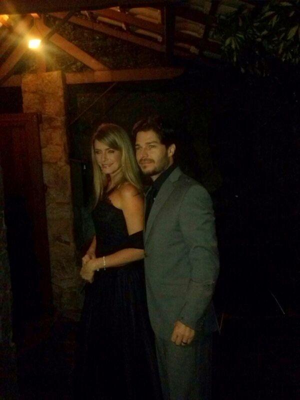 26.jul.2013 - Erik Marmo prestigiou o casamento de Luana Piovani e Pedro Scooby. A cerimônia aconteceu nesta sexta em uma casa de festas na zona sul do Rio