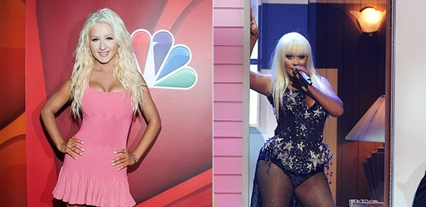 27.jul.2013 - Christina AGuilera aparece cerca de 10 kg mais magra em evento do reality