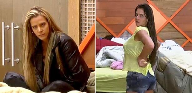29.jul.2013 - Denise Rocha antes e depois de mudar o visual e ficar morena