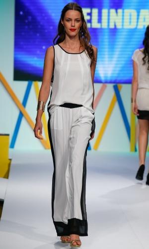29.jul.2013 - O preto e branco está muito em alta na moda e, segundo o look da marca Belinda, deve continuar para o Verão 2014