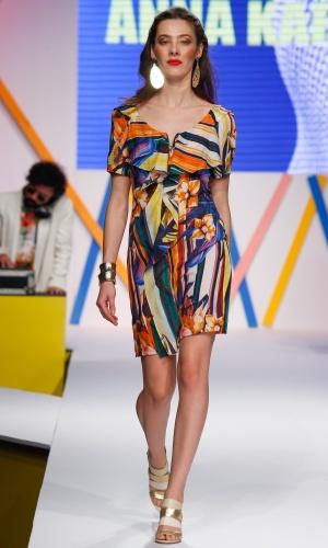29.jul.2013 - O verão pede estampas coloridas e alegres, como a do vestido da marca Anna Karenina