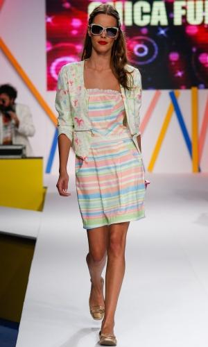 29.jul.2013 - A Chica Fulô mostra como misturar estampas em um mesmo look sem erro
