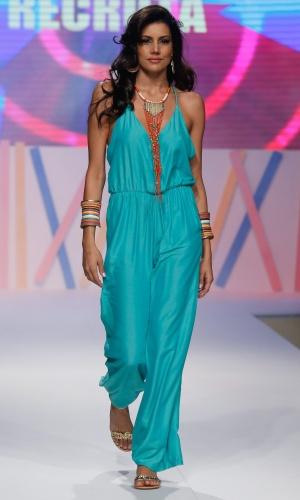 31.jul.2013 - Mariana Felício desfila look no desfile do Mega Polo Moda