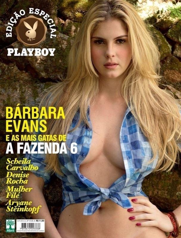 1.ago.2013 - Bárbara Evans estampa a capa da edição especial da Playboy com as musas de