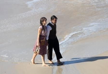 03.ago.2013 - Bruno Gagliasso e Bianca Bin gravam Joia Rara 1