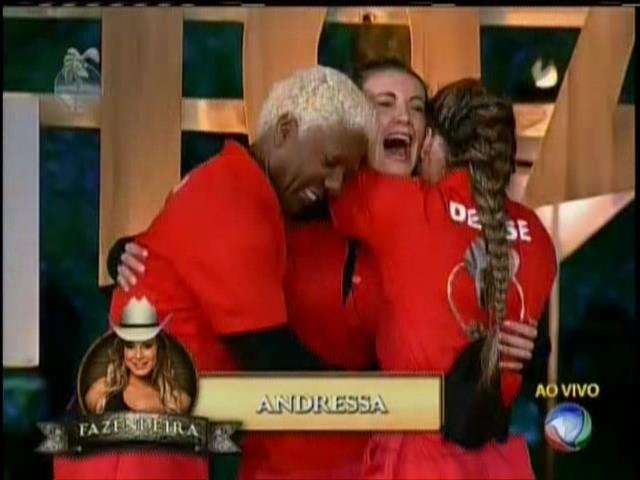 04.ago.2013 - Andressa Urach é vence Prova do Fazendeiro; Ivo e Denise estão na roça