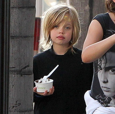 07.ago.2013- Shiloh é filha de Angelina Jolie e Brad Pitt