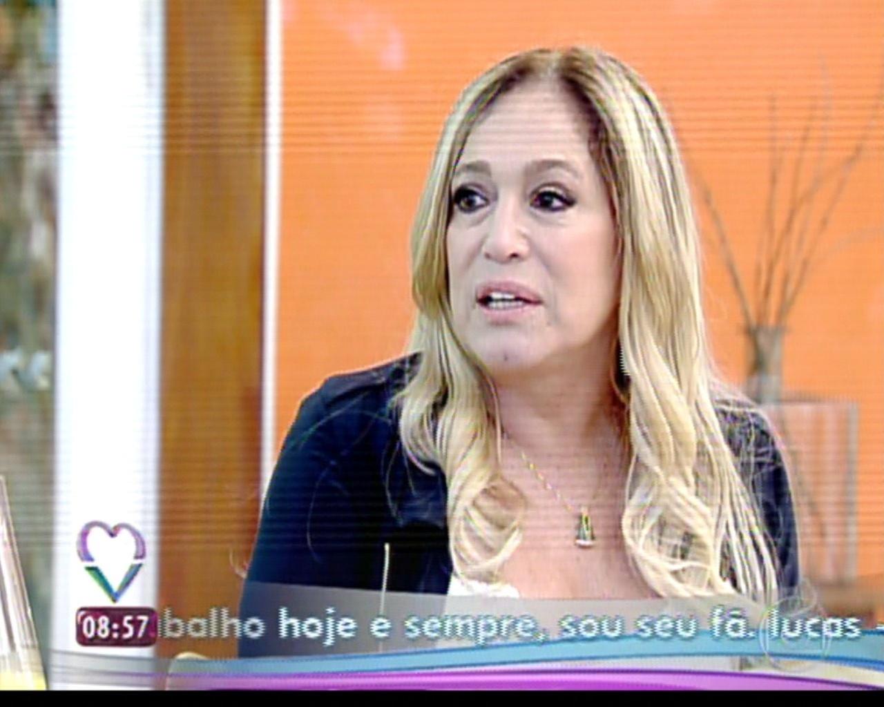 8.ago.2013 - Susana Vieira é entrevistada no