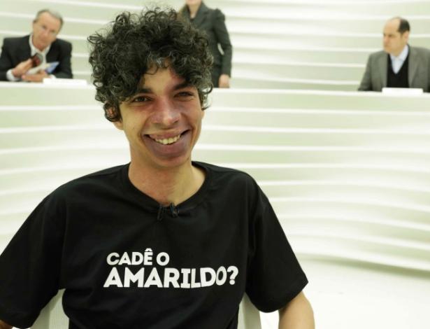 """05.ago.2013 - O produtor cultural Pablo Capilé, fundador do coletivo Fora do Eixo, no programa """"Roda Viva"""" da TV Cultura"""