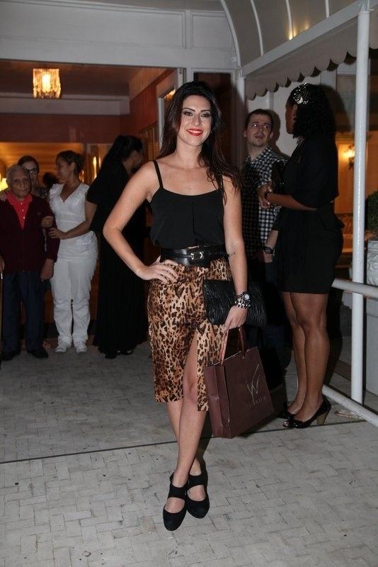 8.ago.2013 - Fernanda Paes Leme no aniversário de 39 anos de Preta Gil no Copacabana Palace, Rio de Janeiro