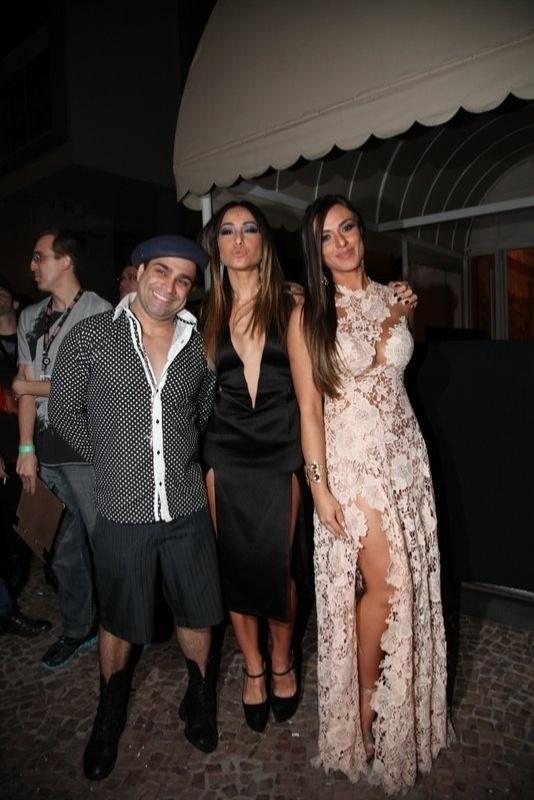 8.ago.2013 - Sabrina Sato, Evandro Santo e Nicole Bahls no aniversário de 39 anos de Preta Gil no Copacabana Palace, Rio de Janeiro