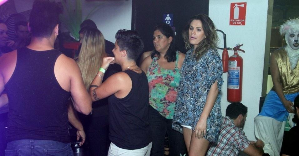 9.ago.2013 - Thammy Miranda foi uma das convidadas da festa