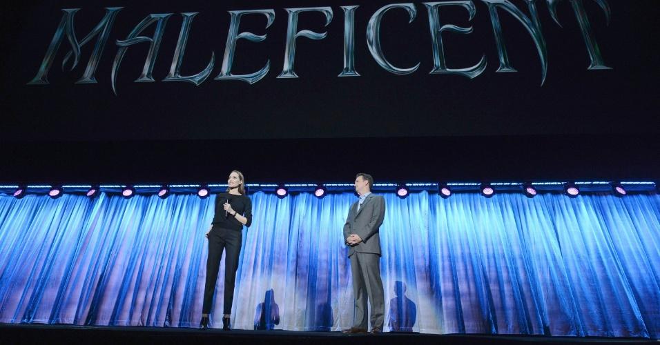 10.ago.2013 - Angelina Jolie participa de apresentação sobre o filme