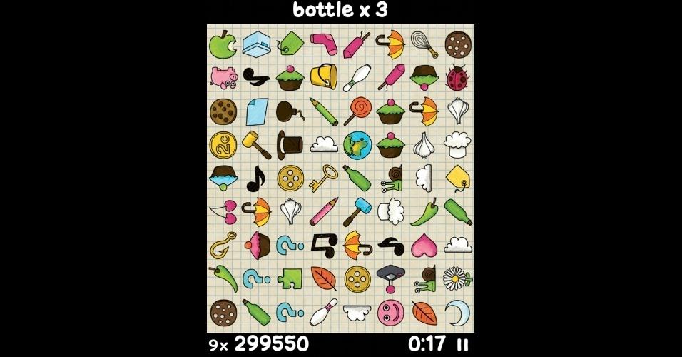 """Em """"Doodle Find"""", para iOS, você deve encontrar objetos específicos no meio de uma bagunça, em partidas de 90 segundos."""