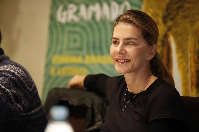 16.ago.2013 - A atriz Maitê Proença apresenta o filme
