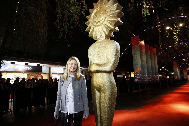 15.ago.2013 - A atriz Maitê Proença apresenta o filme