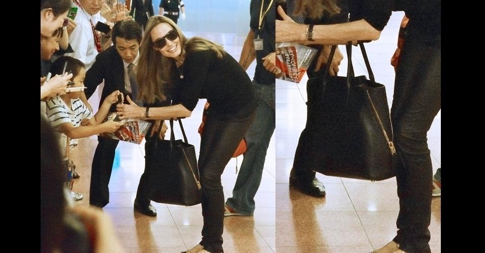 Angelina Jolie costuma usar o modelo
