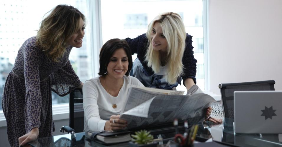 """Luna (Juliana Schalch), Karin (Rafaela Mandelli) e Magali (Michelle Batista) resolvem aplicar conceitos de marketing à prostitução na série """"O Negócio"""", produção brasileira da HBO"""