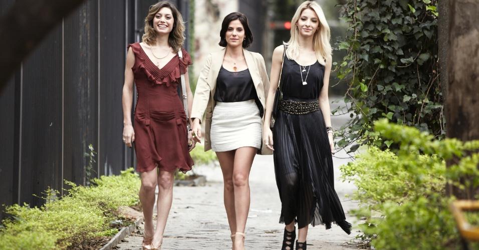 """Luna (Juliana Schalch), Magali (Michelle Batista) e Karin (Rafaela Mandelli) resolvem aplicar conceitos de marketing à prostitução na série """"O Negócio"""", produção brasileira da HBO"""