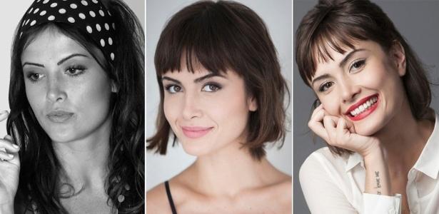 Três momentos da atriz: durante sua temporada em Paris, de volta ao Brasil e na pele de Patrícia