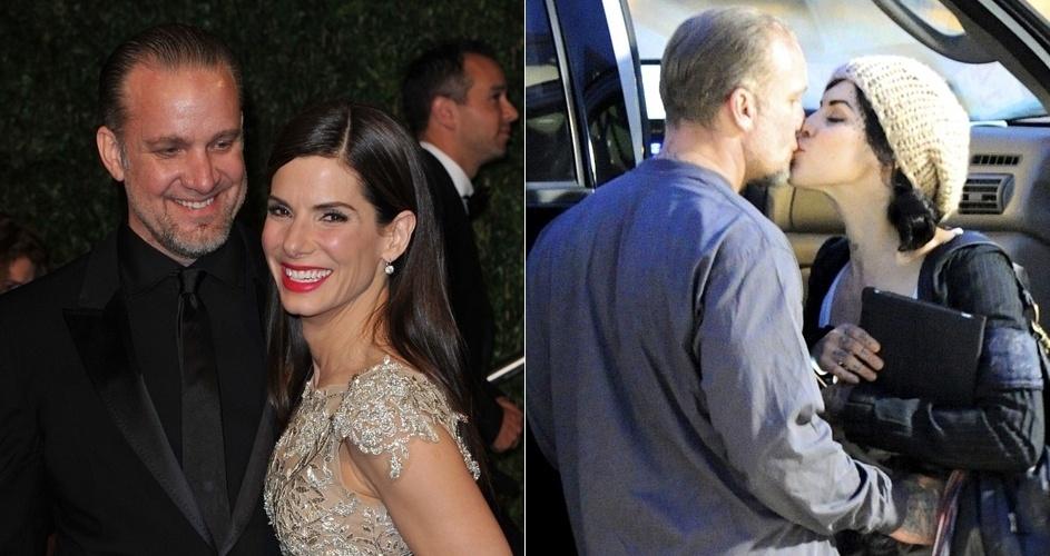 A atriz Sandra Bullock descobriu por meio da imprensa que Jesse James, com quem era casada há cinco anos, a traía, pouco depois de conquistar seu primeiro Oscar, em março de 2010, por
