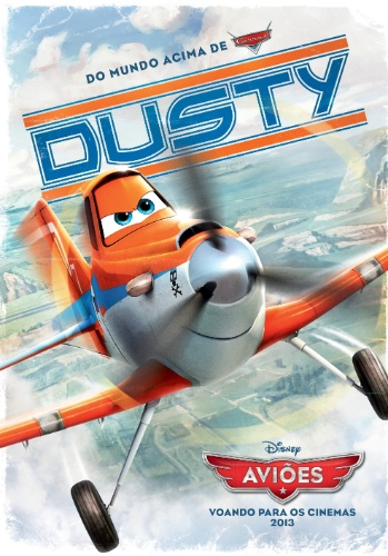 "Pôster vintage de Dusty, o protagonista de ""Aviões"""