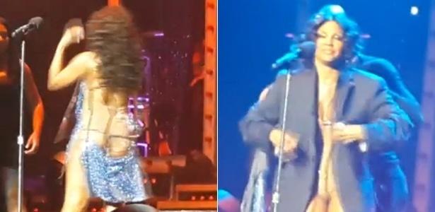 Site TMZ publica foto da cantora Tony Braxton trocando de roupa no palco