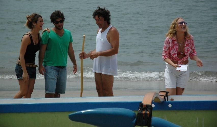 Giovanna Ewbank e Bruno Gagliasso gravam o programa