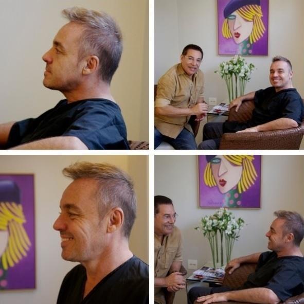 21.8.2013 - Aos 54, Gugu Liberato adotou um corte de cabelo moderno, no melhor estilo