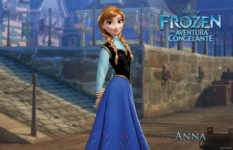 """A princesa Anna, de """"Frozen - Uma Aventura Congelante"""", nova animação da Disney"""