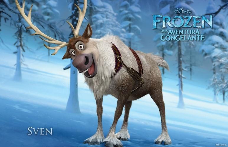 """Personagem Sven, de """"Frozen - Uma Aventura Congelante"""", nova animação da Disney"""
