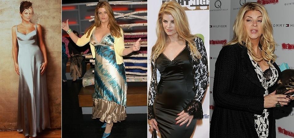 A luta de Kirstie Alley com o peso lhe garantiu uma série e um reality show na TV. Ex-modelo, a atriz estrelou a série