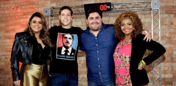 """Preta Gil, Fabio Porchat, César Menotti e Gaby Amarantos no """"Medida Certa"""" em 2013"""