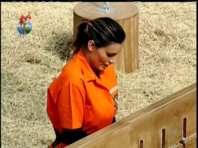 28.ago.2013 - Andressa Urach se concentra durante aProva da Chave
