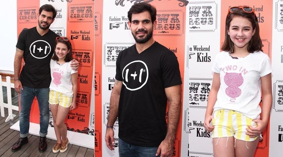 31.ago.2013 - Juliano Cazarré e Klara Castanho prestigiaram um evento de moda em São Paulo. Os atores que em
