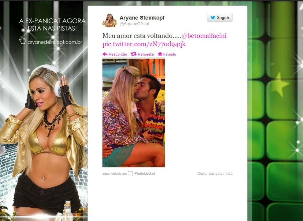 No Twitter, Aryane lamenta saída de Beto Malfacini