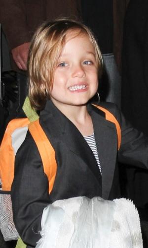 04.set.2013- Knox tem apenas cinco anos e já mostra estilo ao se vestir