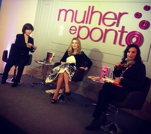 4.set.2013 - Maitê Proença com Mirian Goldenberg e Luciana Savaget no painel