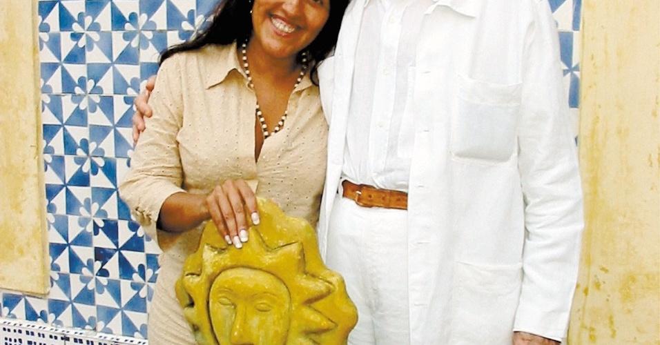 - A atriz Regina Casé e o escritor Ariano Suassuna. (Divulgação