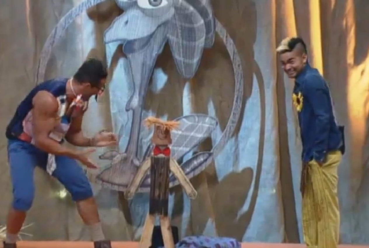 06.set.2013 - Marcos Oliver faz mágica com Dan e Yudi