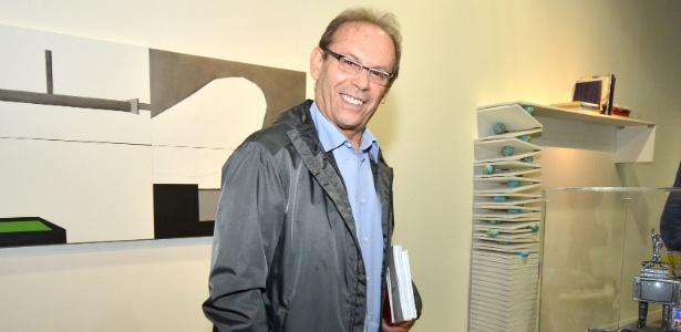 José Wilker na abertura da edição 2013 da ArtRio, no Pier Mauá, Rio de Janeiro