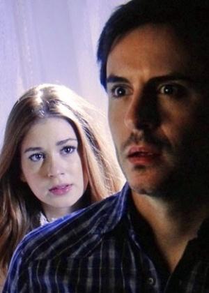 """7.set.2013 - Espírito de Nicole (Marina Ruy Barbosa) fala com Thales (Ricardo Tozzi) pela primeira vez: """"Você me enganou!"""""""
